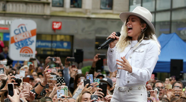 "Singer Miley Cyrus performs on NBC's ""Today"" show in New York City."
