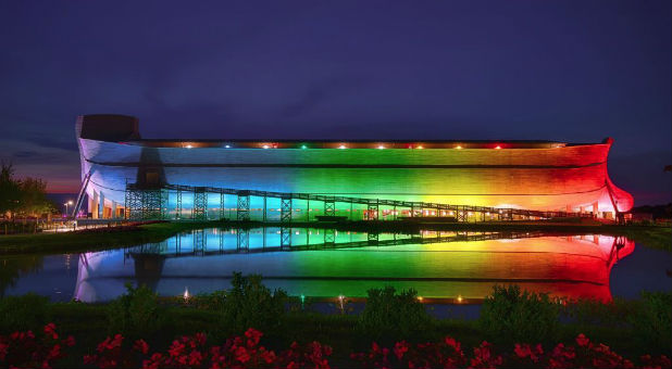 "The man behind the world-famous Ark Encounter has decided to reclaim ""God's rainbow""—announcing the massive ark exhibit will be permanently bathed in rainbow lights."