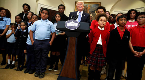 President Donald Trump at White House School Choice Event