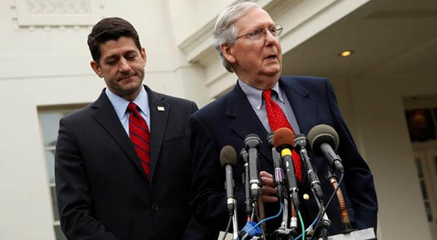 Speaker of the House Paul Ryan, R-Wis., and Senate Majority Leader Mitch McConnell, R-Ky.