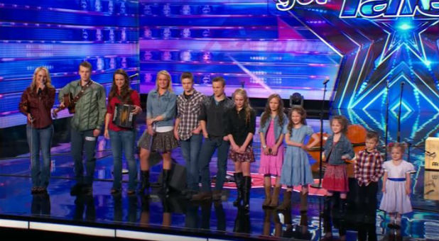 "The Willis Family performs on ""America's Got Talent."""