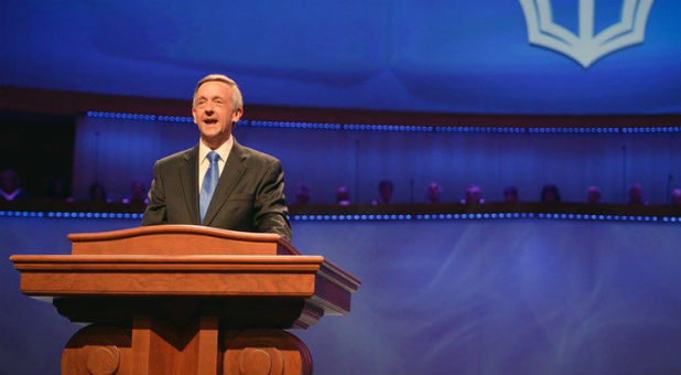 Pastor Robert Jeffress grew up in the First Baptist Dallas congregation where he now preaches.