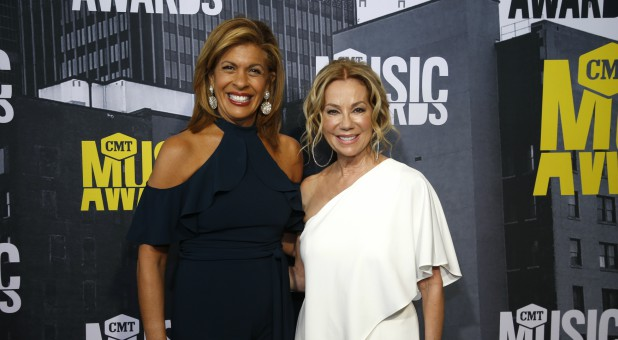Hoda Kotb and Kathie Lee Gifford at the CMT Country Music Awards.