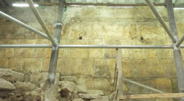Two years ago, archaeologists began excavating under the section of the Western Wall known as Wilson's Arch hoping to determine its age. It leads to the indoor men's prayer section.