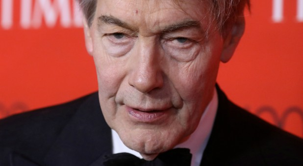 TV host Charlie Rose arrives for the Time 100 Gala in the Manhattan borough of New York, New York.