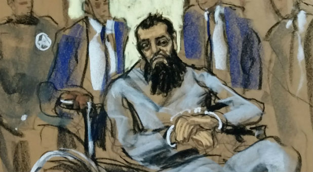 Sayfullo Saipov, the suspect in the New York City truck attack, is seen in this courtroom sketch.