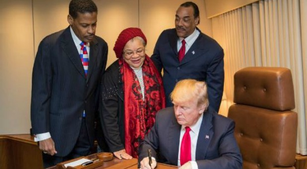 President Donald Trump signed a bill this week to upgrade the Rev. Dr. Martin Luther King Jr.'s birthplace into a national historical park, much to the delight of King's niece.