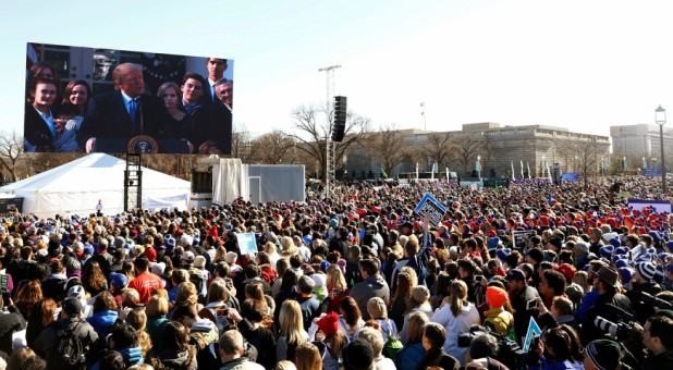 Trump addresses the March for Life.