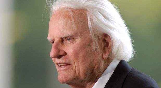Evangelist Billy Graham speaks at the dedication of the Billy Graham Library in Charlotte, North Carolina, May 31, 2007.