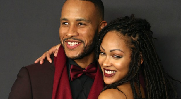 Writer DeVon Franklin and Actress Meagan Good (R) attend the 17th Annual Instyle and Warner Bros. Pictures Golden Globes After Party.