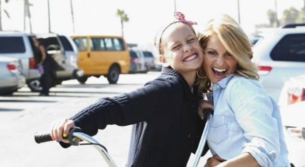 Candace Cameron Bure, right, with her daughter.