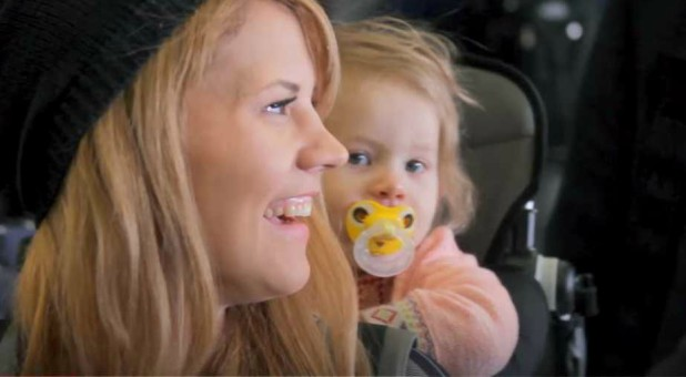 Kimberly Henderson with her daughter.