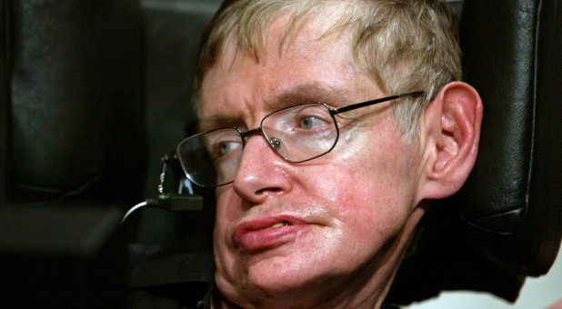 Stephen Hawking in Beijing June 21, 2006.