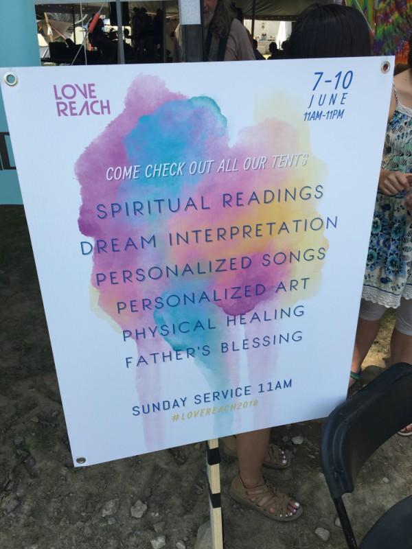 Bonnaroo Evangelism Sign