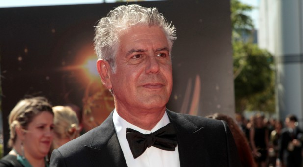 Chef and television personality Anthony Bourdain arrives at the 65th Primetime Creative Arts Emmy Awards in Los Angeles, California, U.S., Sept. 15, 2013.