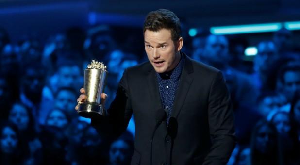 Actor Chris Pratt accepts the Generation Award at the 2018 MTV Movie & TV Awards.