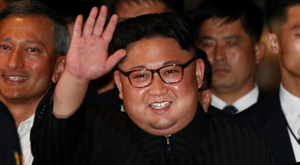 North Korea's leader Kim Jong Un visits The Marina Bay Sands hotel in Singapore.