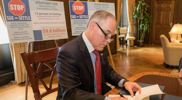 Scott Pruitt at the Environmental Protection Agency