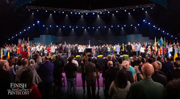 A moment at the Church of God General Assembly this week.