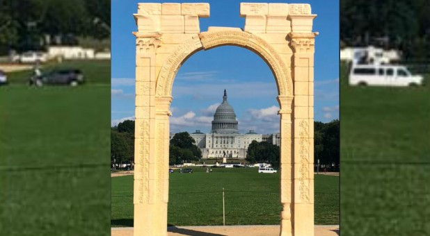 The Palmyra Arch in front of the U.S. Capitol.