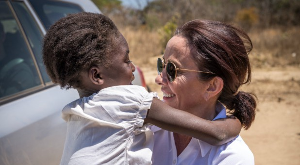 Patricia Heaton, right, with a sponsored child.