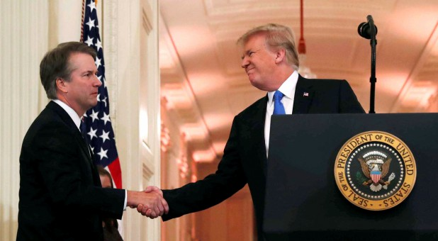 U.S. President Donald Trump introduces his Supreme Court nominee, Judge Brett Kavanaugh.