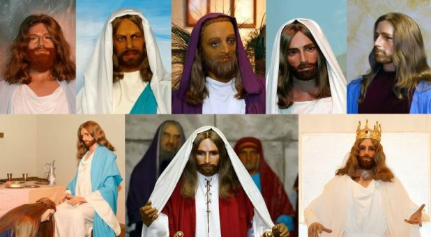 A variety of the versions of Jesus used at BibleWalk.