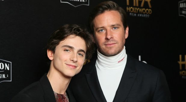 Timothee Chalamet (L) and Armie Hammer of 'Call Me by Your Name.'