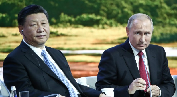 China's Xi Jinping and Russia's Vladimir Putin