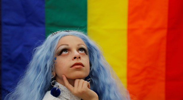 LGBTQ activist Desmond Napoles, 11, poses for a portrait in New York.