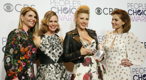 Lori Loughlin, far left, with Andrea Barber, Jodi Sweeten and Candace Cameron Bure.