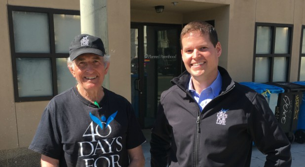 Ron with 40 Days For Life President Shawn Carney