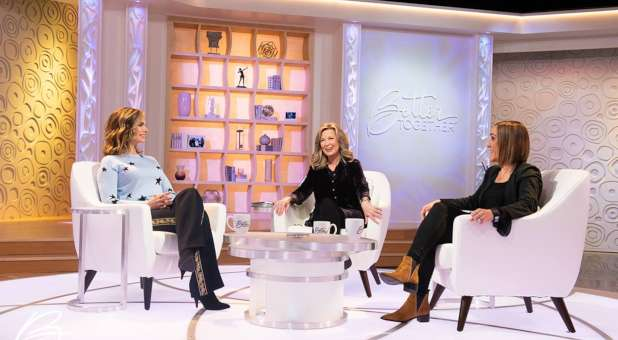 "Victoria Osteen, Laurie Crouch and Christine Caine film a segment for TBN's ""Better Together."""