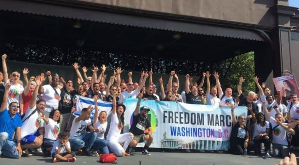 Participants in the 2019 D.C. Freedom March.