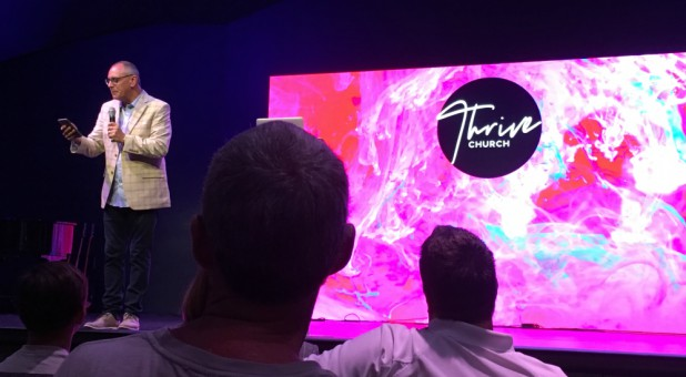 Todd Smith preaches at Thrive Church in Apopka, Florida.
