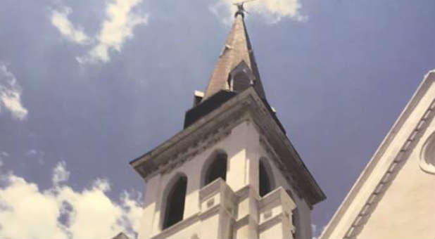 The spire of Mother Emanuel AME Church, Charleston, South Carolina