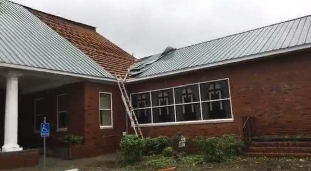South Carolina Church Loses Roof in Hurricane Dorian