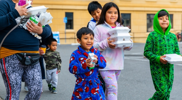 Dream Center in Los Angeles Offers Free Meals to Families as Schools Close because of Coronavirus