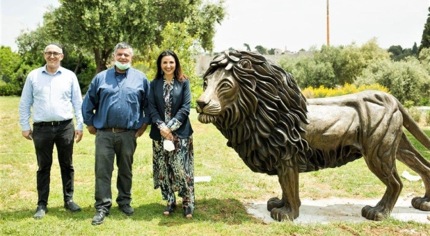 """Lion of Judah"" Monument Erected in Jerusalem as Symbol of Friendship Between Christians, Jews"