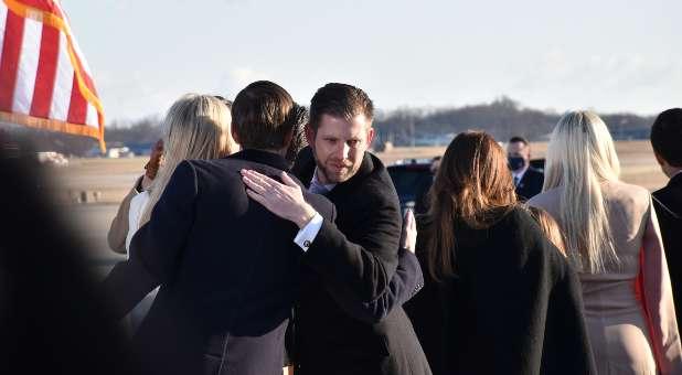 6 Trump Sendoff Eric Trump hugs Jared Kushner While Talking JH resized
