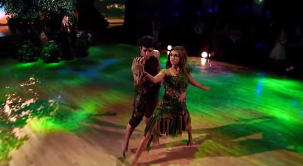 Sadie Robertson and Mark Ballas dance a contemporary number for ABC's