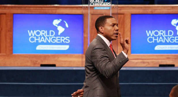 Creflo Dollar is defending his believing God for a new jet.