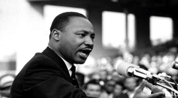 Martin Luther King Jr. giving a speech