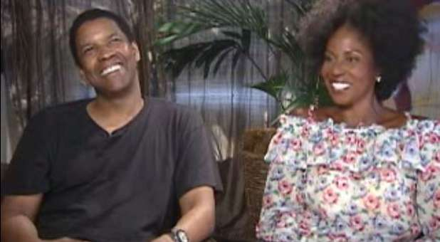 Denzel Washington and his wife, Pauletta