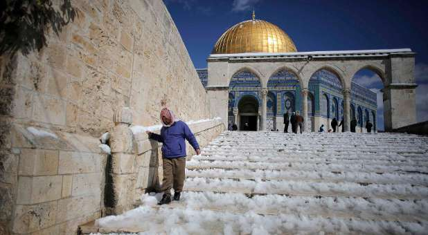 The Dome of the Rock, which is known to the Jews as the Temple Mount. The Temple Institute has rebuilt the altar for the Temple of the Lord.