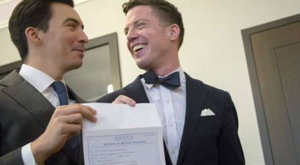 The ACLU is filing lawsuits against clerks who refuse to file gay marriage licenses.