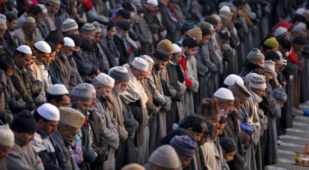 Muslims praying.