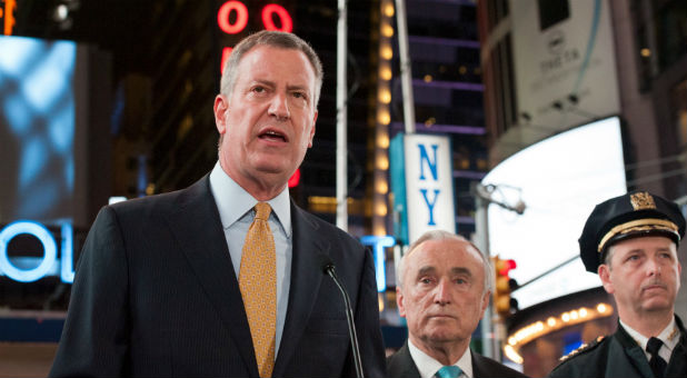 New York Mayor Bill de Blasio