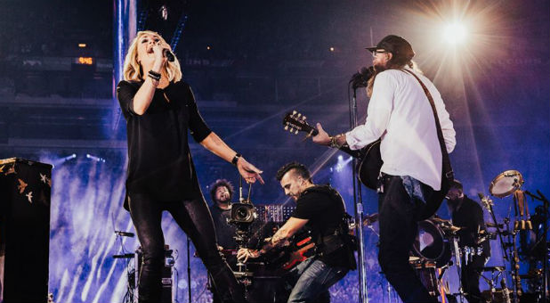 Carrie Underwood and David Crowder at the 2017 Passion Conference.