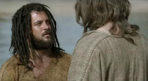 John the Baptist with Jesus.